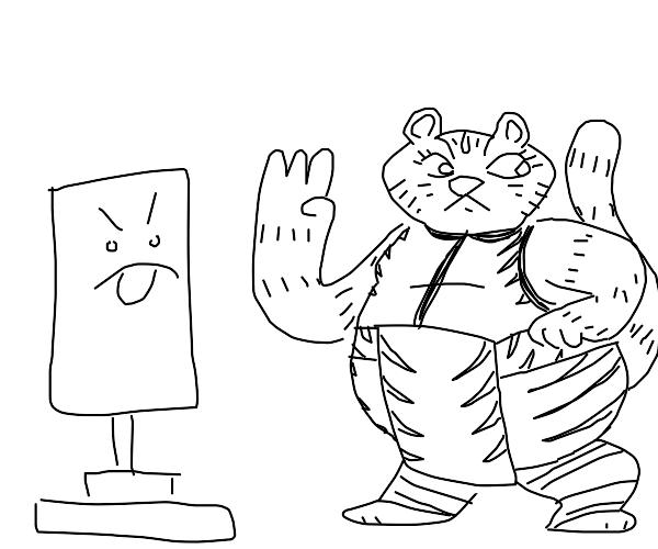 Kong fu tiger