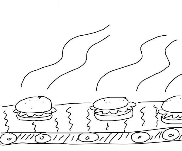 Burger dispenser