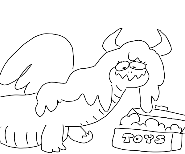A dragon that hoards toy dragons