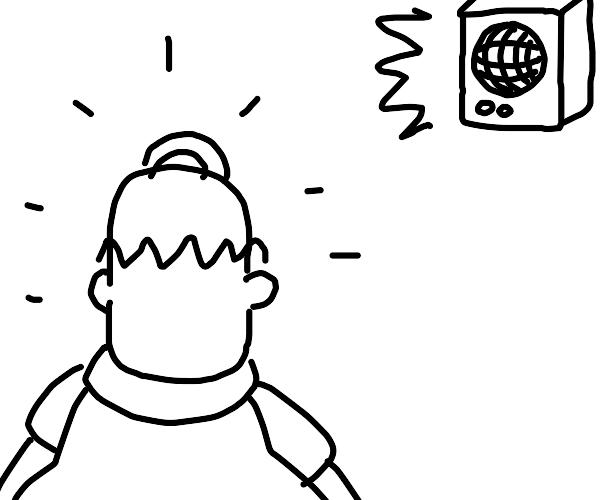 Ringing Homer Simpson