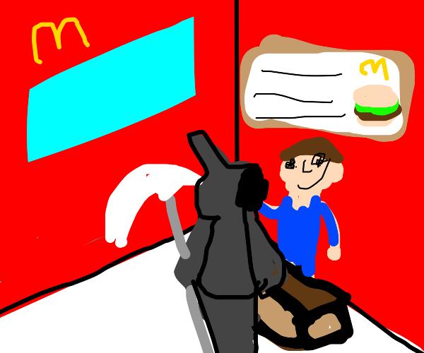 The Grim Reaper orders McDonalds