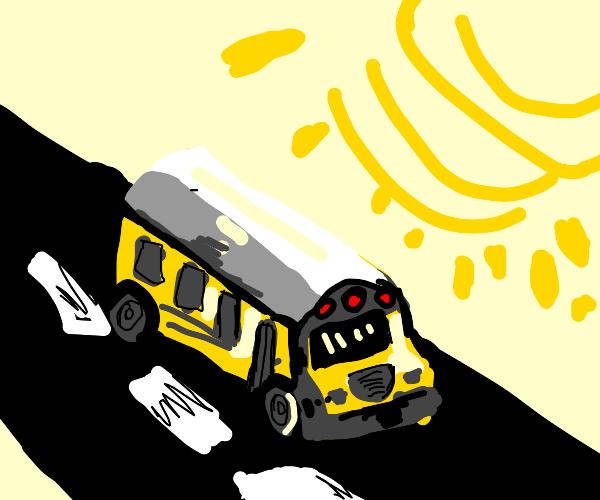 School bus on a sunny day