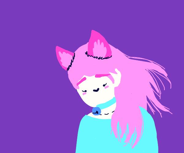 Feral cat girl