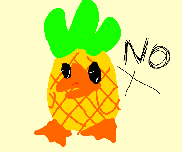 Pineapple duck says No.