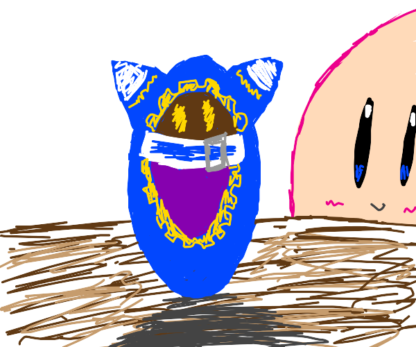 Kirby looming over Magalor