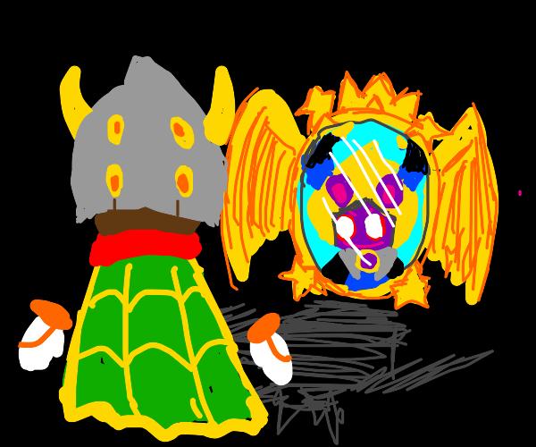 Taranza (Kirby) Looks through a Magic Mirror