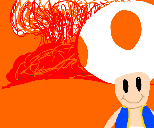 Orange toad launches nuclear missile