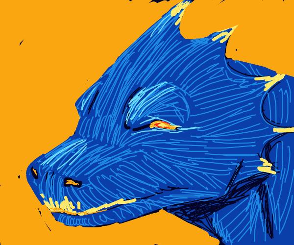 blue dragon head