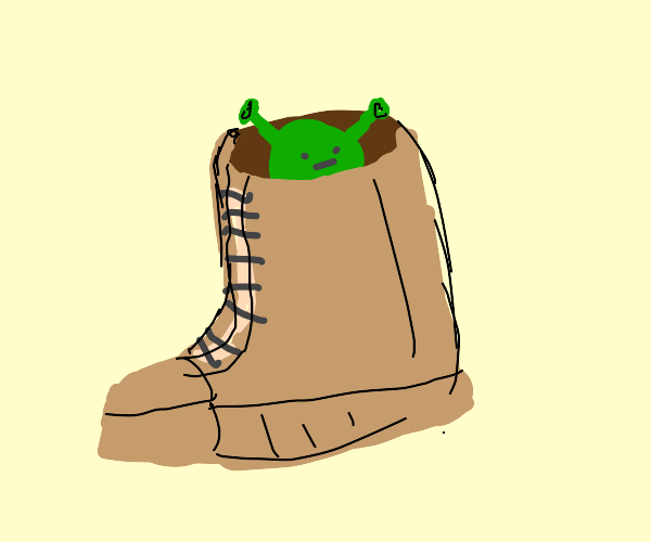 There's a Shrek in my boot