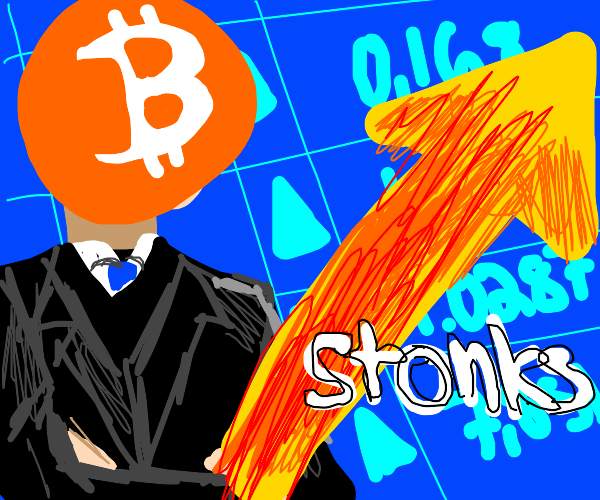Bitcoin stocks go way up