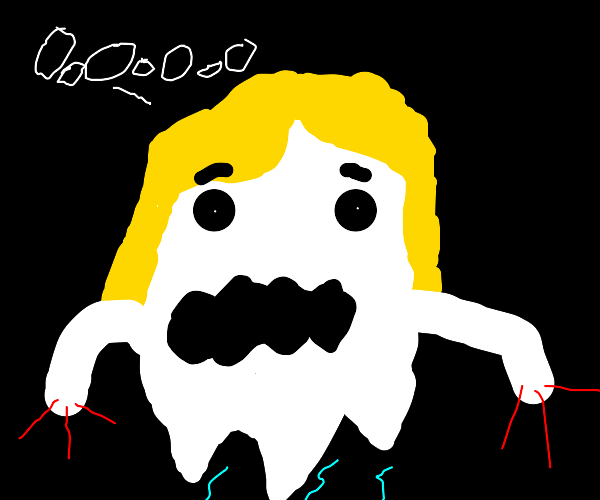 ghost with hair and claws