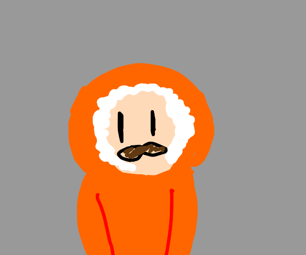 Kenny McCormick with a mustache
