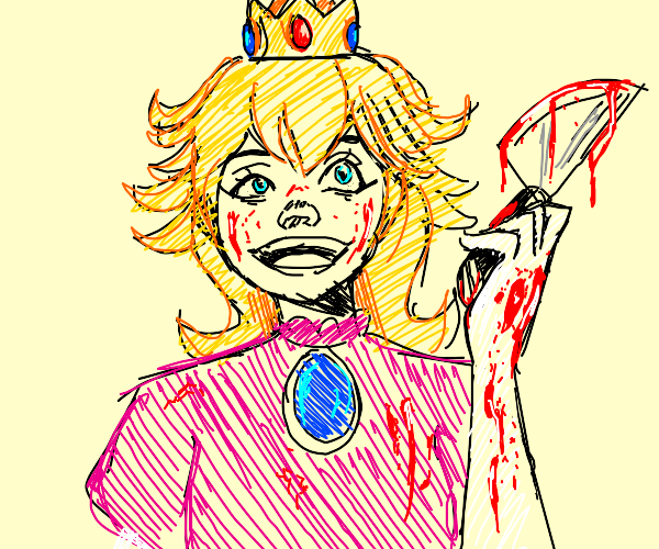 Princess from mario became yandere