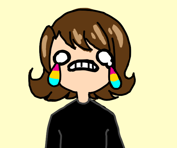 she cries the pansexual tears