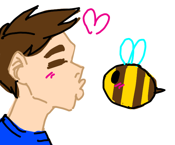 man and bee love
