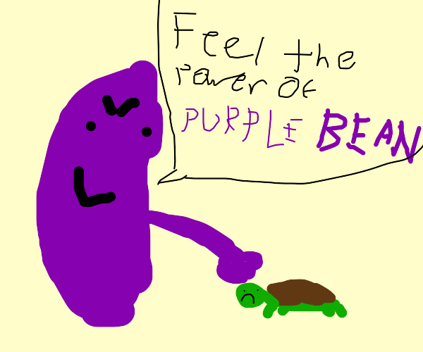 Purple Bean Punches Innocent Turtle