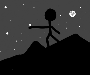 A guy holding a star in his hand