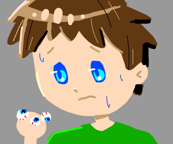 Guy with blue eyeballs
