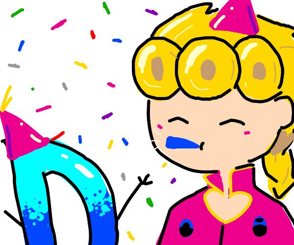 GIorno celebrates Drawception birthday