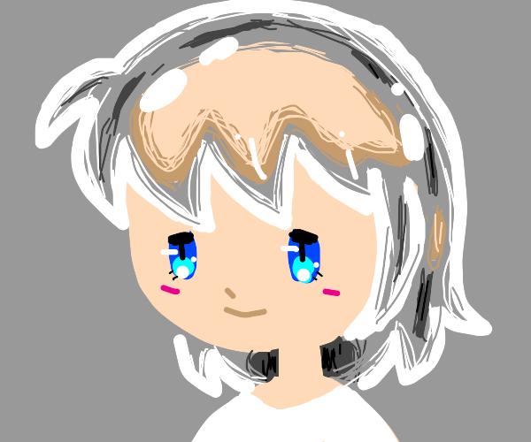 Anime Girl with Transparent Hair
