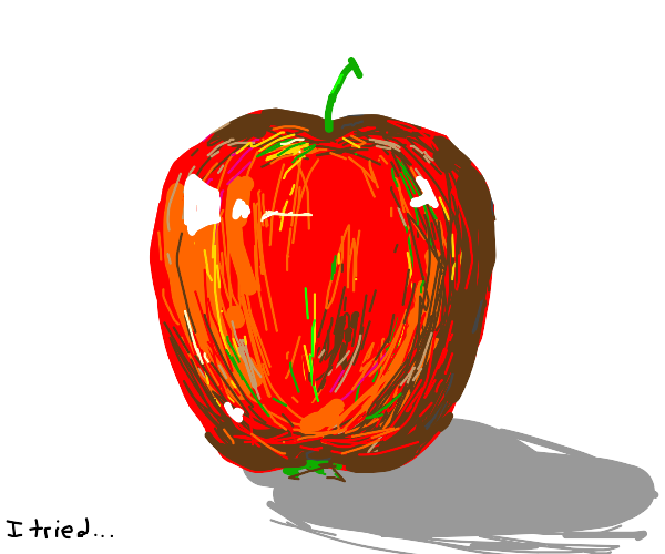 a very EXTREMELY HYPER realistic apple ;)