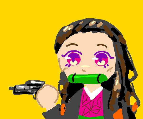 nezuko has a GUN