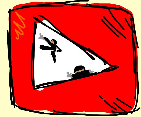 ninja inside the youtube logo