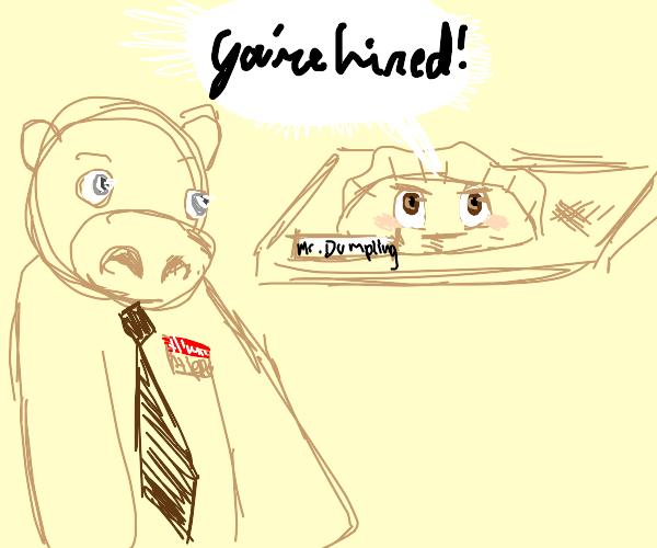 Dumpling hires a hippo