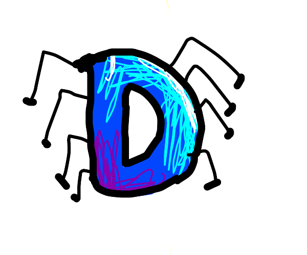 Drawception Mascot, but with spider legs