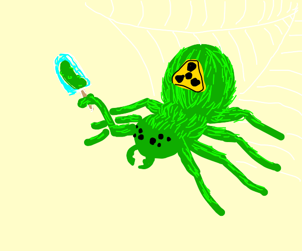 radioactive spider with pickle ice-pops