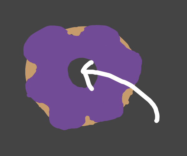 The middle of a donut