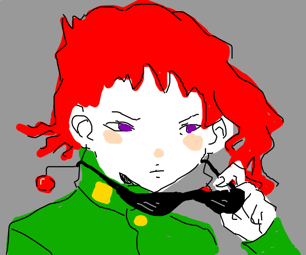red hair man from jojo being cool