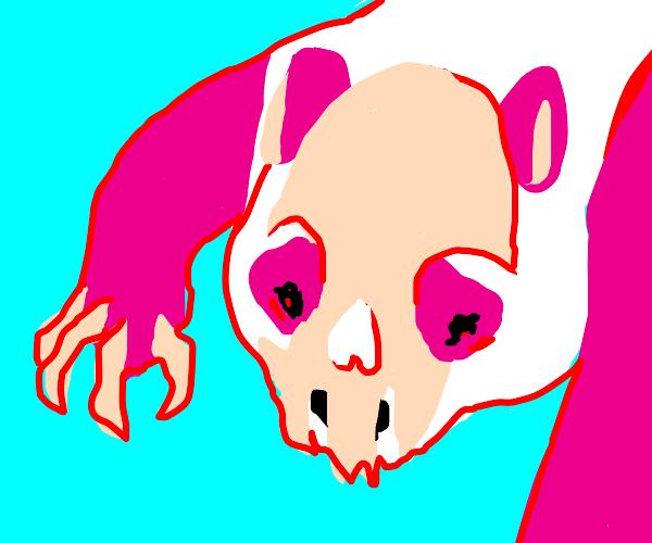 Weird pink skull-panda thing