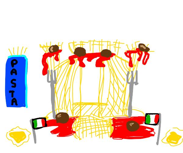 Italian spaghetti castle