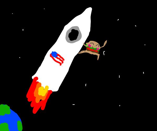America sends cute burger to space