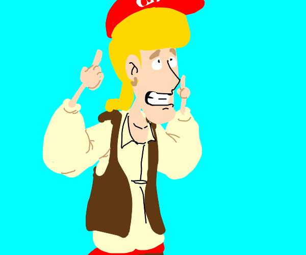 Pirate steals Mario's hat