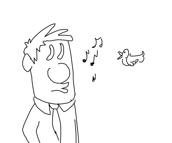 bird and man makin music