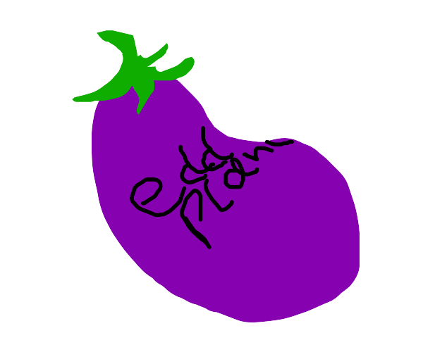 'D' is for eggplant.