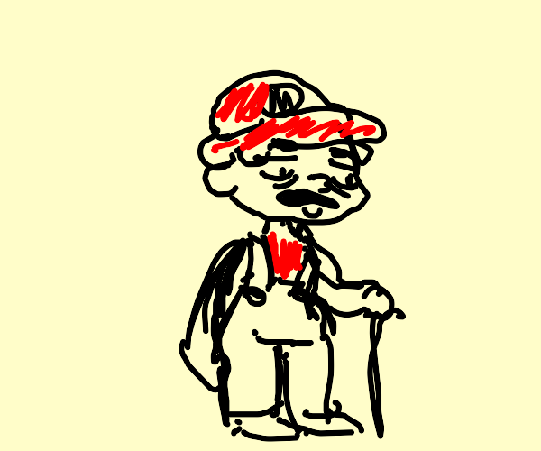 Mario as an old man