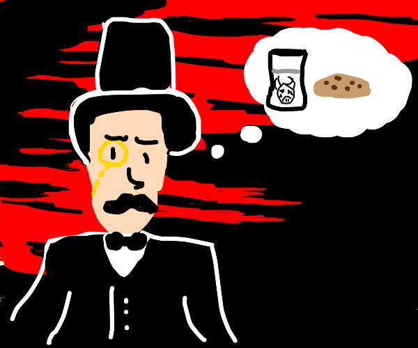 Fancy guy dreams of cookie
