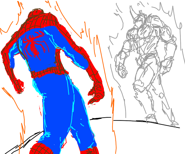 your approachin me but it Spiderman and rihno
