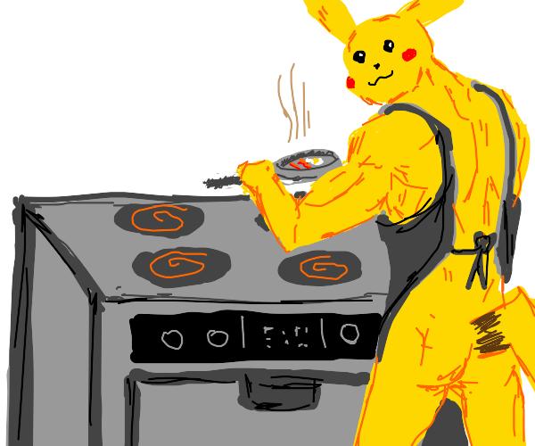 buff pikachu cook you something