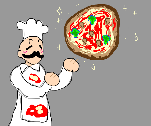 abstract pizza