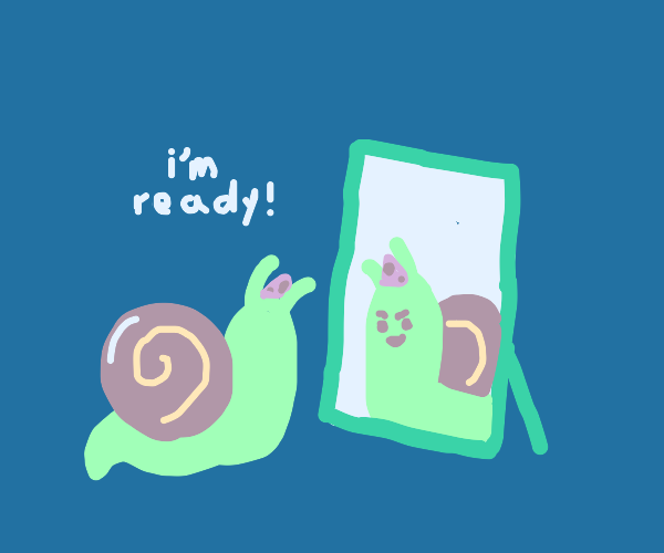 Snail is ready to party