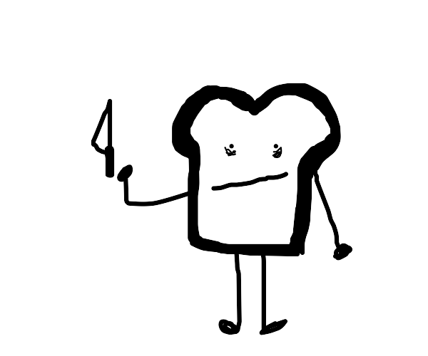 Bread with a knife