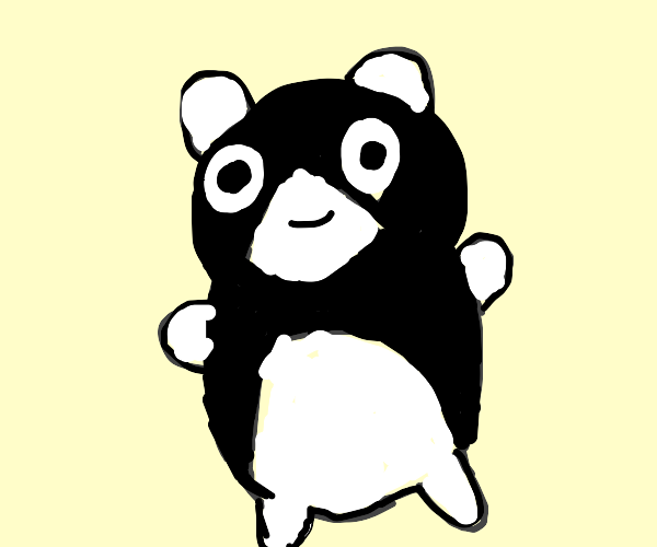 A weird panda