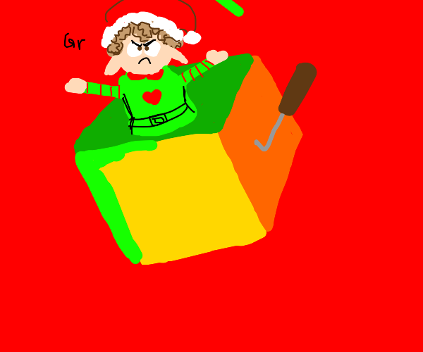angry elf jack in a box