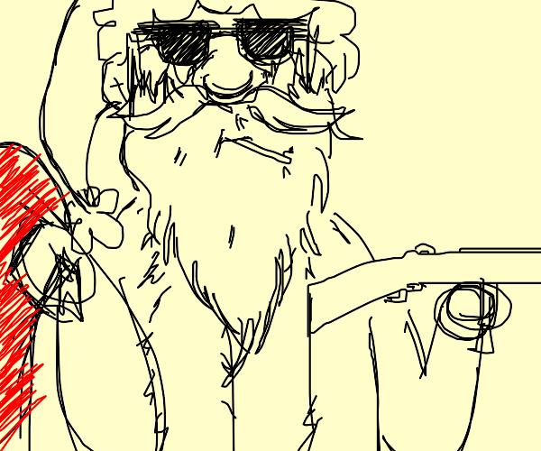 Santa's got a big gun