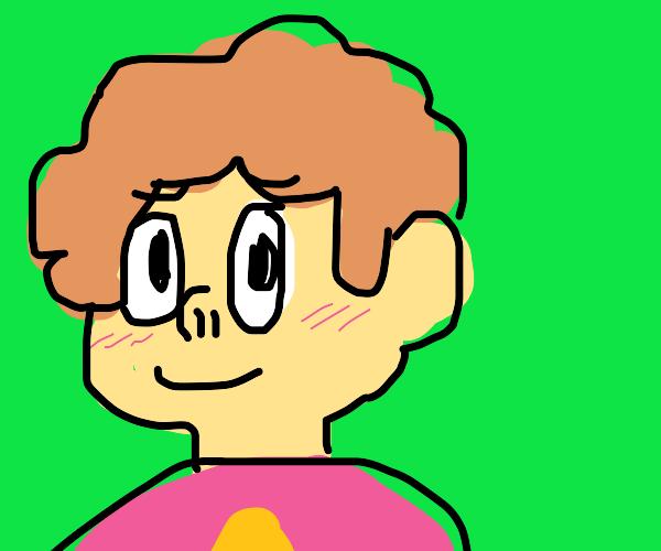 Ginger Steven Universe blushes @ compliment