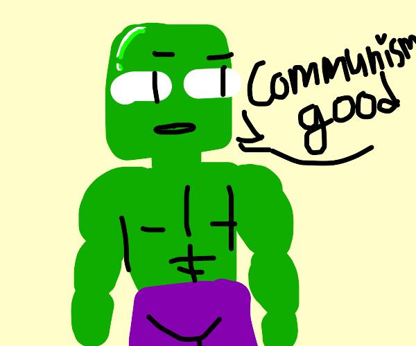 Communist Hulk. Also, he's bald